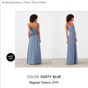 Weddington Way Dresses - Weddington Way Dusty Blue Strapless Dress